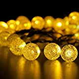 Patio Lawn Garden Best Deals - Solar String Lights, BIRUGEAR Decorative Globe Solar Powered String Lights 30 LED For Outdoor, Gardens, Lawn, Patio, Wedding, Christmas, Parties- Warm White