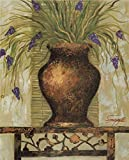 70 iron display easel - Oil Painting 'House Plant With Purple Flowers', 12 x 15 inch / 30 x 38 cm , on High Definition HD canvas prints is for Gifts And Bar, Basement And Home Theater Decoration, custom