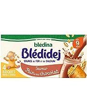 Blédina Blédidej 12 briques Céréales Apport Lacté Saveur Pain au Chocolat dès 9 mois (Pack de 3x4 briques)