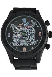 Teenage Mutant Ninja Turtles MENS/Boy's Black Analog Watch TMN9045