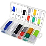 AuSL Flat PVC Heat Shrink Tubing Battery Wrap for 1x AAA Battery 9 Colors 300PCS (AAA Battery 9 Colors)