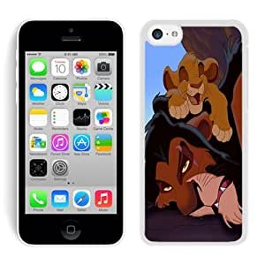 The Lion King Simba Scar White For iPhone 5C Case Genuine and Cool Design