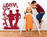 Frolicking Kids Wall Decal by Style & Apply - Highest Quality Wall Sticker, Wall Applique, Home Decor Mural - 2167 - 16in x 22in, Beige