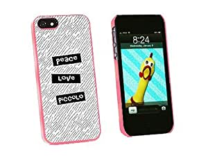 Peace Love Piccolo - Snap On Hard Protective Case for Apple iPhone 5 5S - Pink