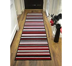 2 x 74 Alfombra larga tradicional polipropileno 60 x 220 cm peluda para pasillo alfombra camino de pasillo en m/últiples colores Striped Green moderna