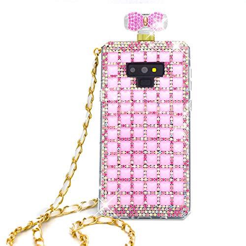 Diamond Perfume Bottle - Omio for Samsung Galaxy Note 9 Perfume Bottle Case Cover Shell for Galaxy Note 9 Glitter Case Fashion Luxury Bonzer Bling Diamond Crystal Bow Bowknot Chain Handbag Case for Galaxy Note 9