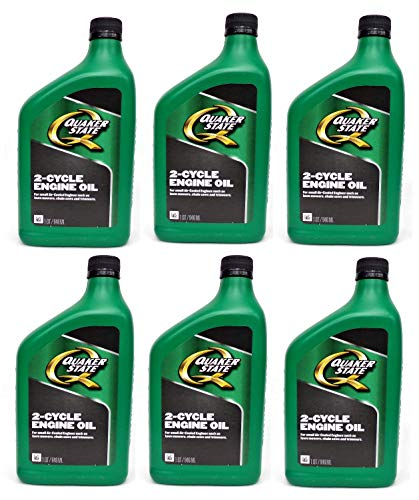 (Quaker State Pennzoil 2- Cycle, 2- Stroke Engine Oil for Small Air Cooled Engines, 6 Quarts)
