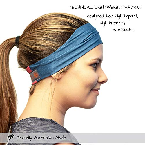 Red Dust Active Workout Headband - Ideal for Sports, Fitness, Running, The Gym & Yoga - Moisture Wicking - Non-Slip - Exercise Sweatband - Designed for Versatility & The Active Women by Red Dust Active (Image #1)
