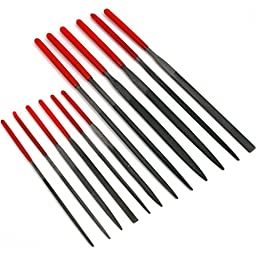 SE Needle File Set 6 x 100mm/6 x 140mm Dipped Handles