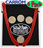 "Carrom Nok Hockey Replacement Equipment Set Includes 2 Sticks, 4 Pucks & Bonus ""Matty's Toy Stop"" Storage Bag - 6 Pack"
