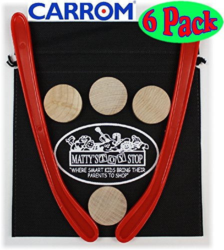 Hockey Puck Stick - Carrom Nok Hockey Replacement Equipment Set Includes 2 Sticks, 4 Pucks & Bonus