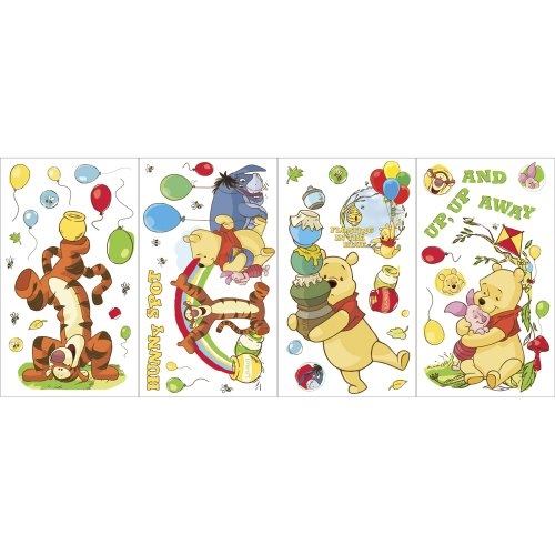 Self Stick Wall Appliques - Blue Mountain Wallcoverings GAPP1760 Pooh Scenic Self-Stick Wall Appliqués