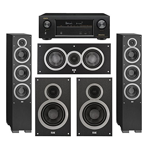 Elac 5.0 System with 2 Debut F6 Floorstanding Speakers, 1 De
