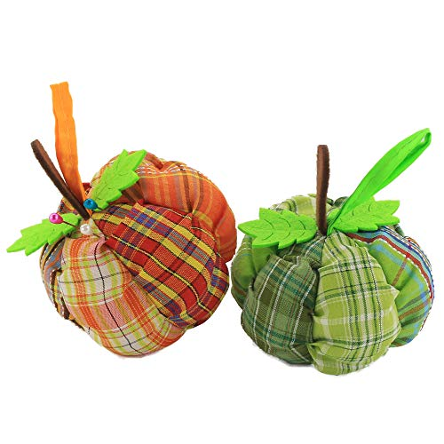 - Wewill Handcraft Novetly Pumpkin Pincushion, Needle Holder Sewing Kit, DIY Craft, Pack ot 2 (Pumpkin)