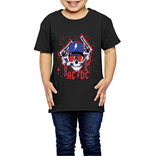 PGiG Kid's AC/DC Logo 100% Cotton T Shirts Tee - Holiday Dc Ac