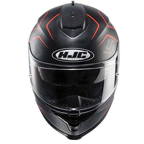 HJC IS-17 LANK DUAL VISOR MOTORCYCLE HELMET LARGE, RED