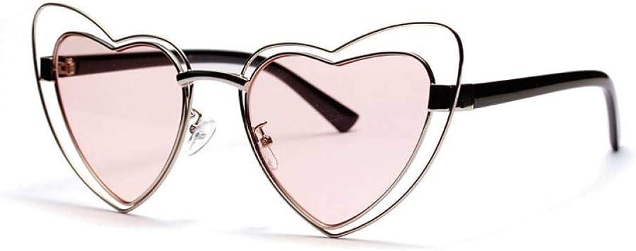 ZRTYJ Gafas de Sol Forma de corazón Gafas de Sol Mujer Regalo Rosa ...
