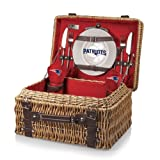NFL New England Patriots Champion Picnic Basket with Deluxe Service for Two, Red