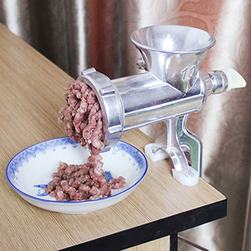 Shop24Hrs Clip Type Aluminium Alloy Manual Meat Grinder Mincer Mini Sausage Machine (3 4 Horse Meat Grinders compare prices)