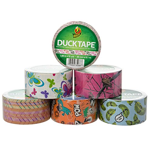 6 Rolls Printed Duck Brand Duct Tape Bulk Lot Patterns Arts & Crafts Hobby DIY 60yds Hearts