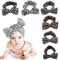 Abbyling68 Baby Girl Multicolor Hair Hoops Headbands,Solid Bunny Ears,Bow Headbands