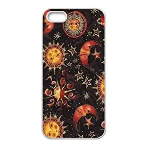 Sun Moon Pattern DIY Cover Case for Iphone 5,5S,personalized phone case ygtg543061 by icecream design