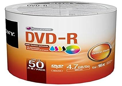 picture relating to Inkjet Printable Dvd called Sony 50 Pack DVD-R DVDR White Inkjet Hub Printable 16X 4.7GB 120min Blank Media Disc