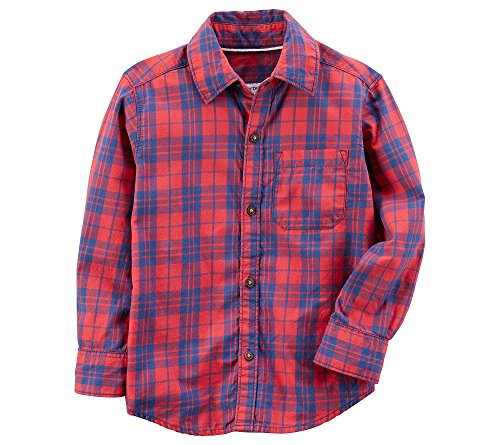 Carters Baby Boys Plaid Button Front Shirt 12 Months