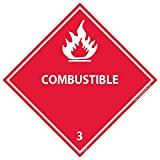 DL9AP National Marker Dot Shipping Labels, Combustible 3, 4 Inches x 4 Inches, Ps Vinyl, 25/pk (Pack of 25)