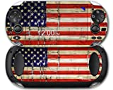 Painted Faded and Cracked USA American Flag - Decal Style Skin fits Sony PS Vita