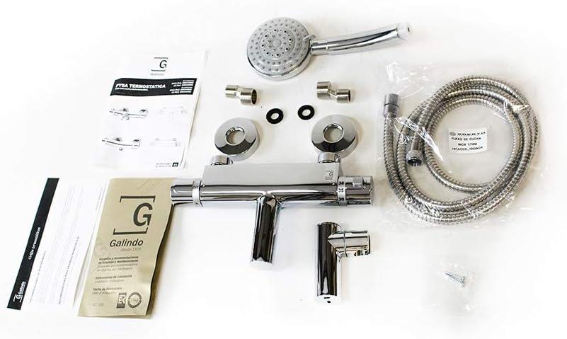 Galindo Pysa 50041000 grifo baño-ducha termostática con accesorios ...