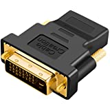 CableCreation DVI to HDMI Adapter, Bi-Directional DVI Male to HDMI Female Converter, Support 1080P, 3D for PS3,PS4,TV Box,Blu