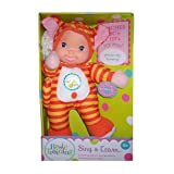 Sing & Learn 11 inch Baby Doll - Striped Outfit by Goldberger Doll Mfg