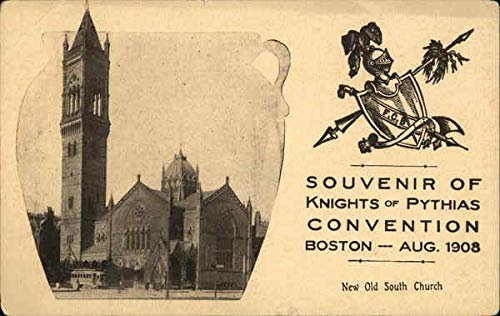 Souvenir of Knights of Pythias Convention Boston, Massachusetts Original Vintage Postcard from CardCow Vintage Postcards