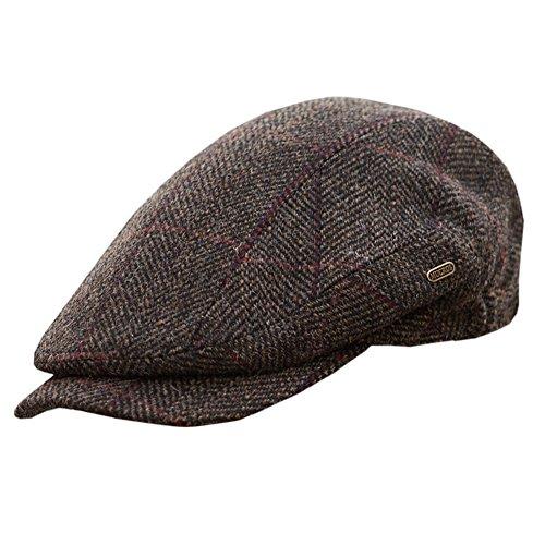 c01fa641422f3 Mucros Weavers Men's Quiet Man Cap, Irish Tweed Flat Cap, Brown, Small