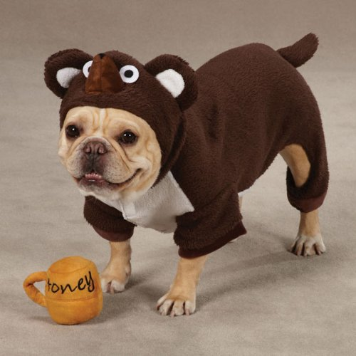 Zack & Zoey Polyester Lil Honey Bear Dog Costume, Large, Brown