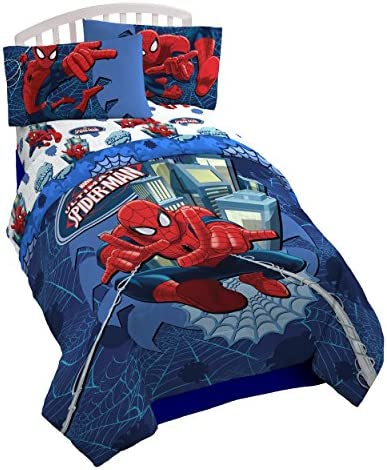 Marvel Spiderman Astonish Full Comforter – Super Soft Kids Reversible Bedding features Spiderman – Fade Resistant Polyester Microfiber Fill Official Marvel Product