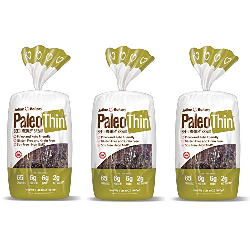 Paleo Bread Seed Medley (3 Pack) Low Carb, Gluten-Free, Grain-Free (2 Net Carbs)