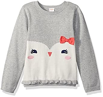 Gymboree Toddler Girls' Grey Penguin Face Sweater, Cozy ...