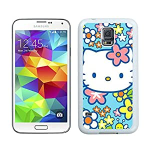 Hello Kitty 27 Custom Design Cell Phone Cover Case for Galaxy S5 SV I9600 White