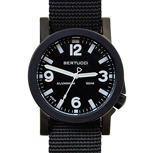 Bertucci A-6A Experior 16500 Mens Black Nylon Band Black Japan Quartz Dial Watch - Japan Black Dial Watch