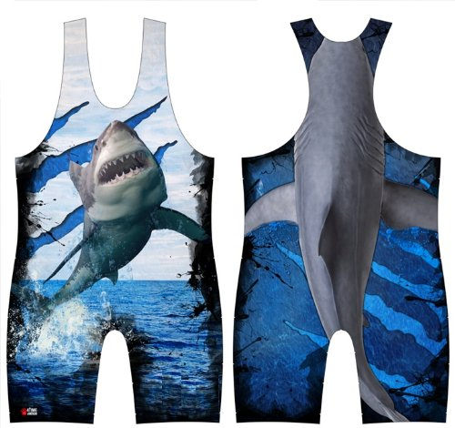 Flying Shark Sublimated Wrestling Singlet size XS