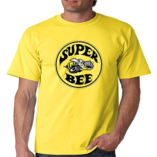 (Juiceclouds Dodge T Shirt Dodge Charger Super Bee Mens Tee S-5XL (Yellow, 2XL) )
