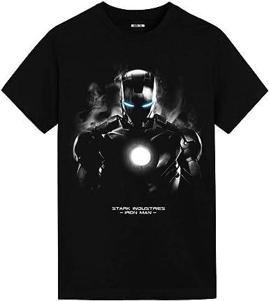 Camiseta Hombre De Hierro Marvel 10th Anniversary Avengers Pantera Negra Hulk Capitán América Algodón De Manga Corta: Amazon.es: Ropa y accesorios