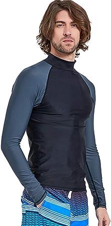 JASQSY Surf Ropa Tops 2019 Verano Mens Impreso Mangas largas Camisa Protector de Pantalla de Traje de baño Camiseta Playa UV Surf Ropa,L: Amazon.es: Hogar