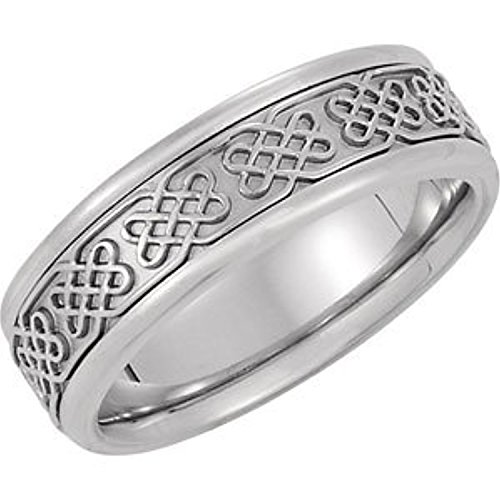 Yellow Gold Bridal Celtic Band - 14K Yellow Gold Bridal Celtic Band, Size: 7