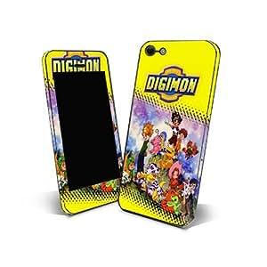 Skin Sticker 3m Cover Phone for Samsung Galaxy Y Duos Protection Skin Design Digimon Cartoon NDGM06
