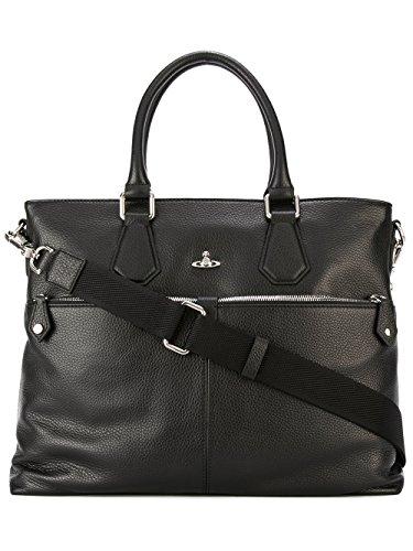 Price comparison product image Vivienne Westwood Men's 131179265 Black Leather Briefcase