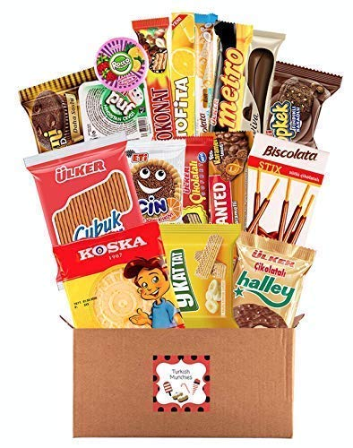 Maxi Premium International Snacks Variety Pack Care Package, Ultimate Assortment of Turkish Treats, Mix variety pack of snacks, Best Foreign Candy or Foreign Snacks Box, Best Universal Yums, Munchpak