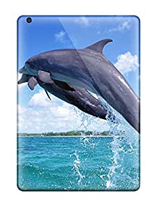 Protective Tpu Case With Fashion Design For Ipad Air (nice Jumping Dolphin )